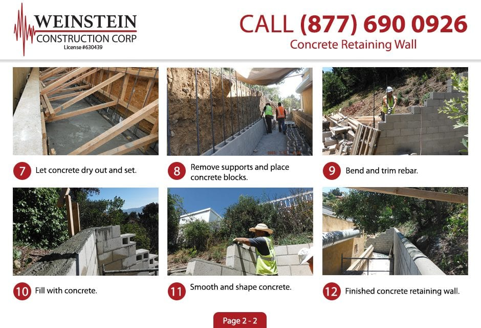 Concrete Retaining Wall 2 Large