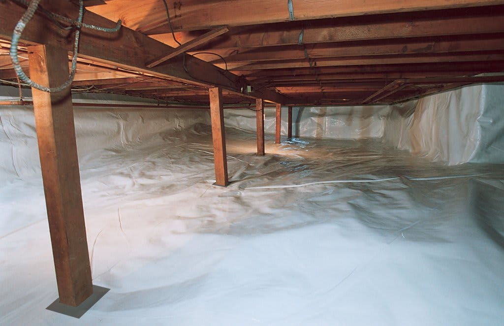 crawl space clean and moisture free