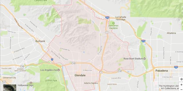Glendale CA Map