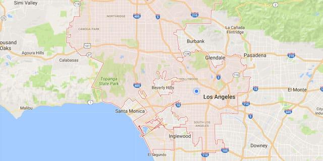 LA CA Map