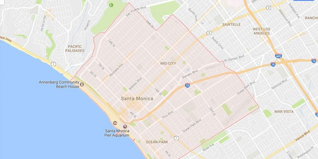 Santa Monica CA Map